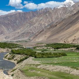 A view along the Wakhan Corridor.