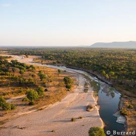 A photo of the Lubonga river, North Luangwa National Park