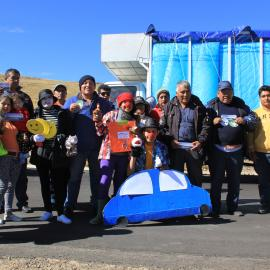 Environmental education events to raise the awareness of drivers on the interoceanic highway regarding the importance of the vicuña as a resource for local people. Credit: SERNANP – Reserva Nacional Pampa Galeras Bárbara D'Achille