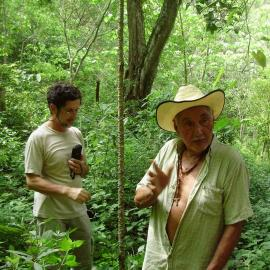 Working for a Natural Trail with the land owner. Credit: Claudia Cinta