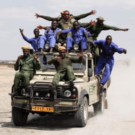 Scouts on patrol in Tanzania,
