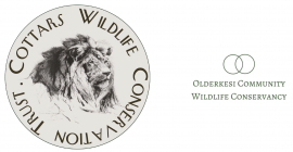 Logos of the Cottar Wildlife Conservation Trust and Olderkesi Community Wildlife Conservancy