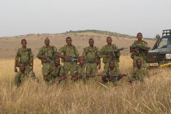 Northern Rangelands Trust rapid response team: 6 uniformed and armed men ready for action